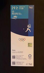 Tokyo 2020 Tennis July 29th  unused ticket Mint RARE