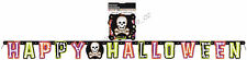 Jointed Banner Happy Halloween Cutout Skull Spooky Party Decoration 1.7M Garland