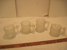 4 Old Mc Donalds Flinstones Hanna Barber Clear Glass Mammoth Mugs