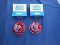 1955 Ford tail light lenses, pair, NOS! B5A-13450-A, lamp lens