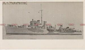 "Photograph Royal  Navy. HMS ""Tanatside"" Destroyer. WW11 camouflage. Fine! 1940s"