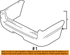 FORD OEM 2003 Expedition Rear Bumper-Cover 2L1Z17K835GAA