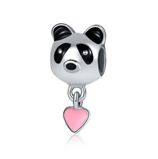 DIY Fashion 925 Silver panda Charm European Spacer Beads Fit Necklace Bracelet !