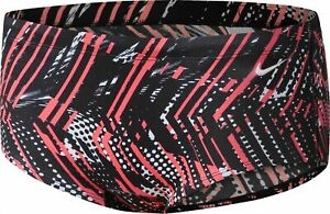 NIKE PERFORMANCE Boys Shark Competition Mod Swim Briefs Crimson Size 26 $48 -NWT