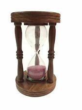Vintage Antique Wooden Hourglass Vintage Collectible Nautical Decor Sand Timer
