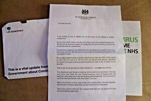 Virus Prime Minister Letter 2020 New & Opened Mail Boris Johnson Mail