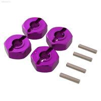 Purple Wheel Hex 4PCS 12mm Mount &Pin For 1/10 RC Model Car HSP Redcat