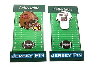 San Francisco 49ers George Kittle jersey lapel pin & helmet pin-Collectibles-2