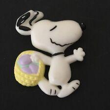 Vintage Snoopy Easter Pin Hallmark Peanuts Egg Hunt Brooch Collectible