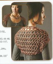 Crochet Pattern ~ Ladies Touch of Shine Shrug ~ Instructions