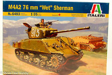 "Italeri M4A2 76 mm ""Wet"" Sherman 6483 1/35 New Military Plastic Model Kit"