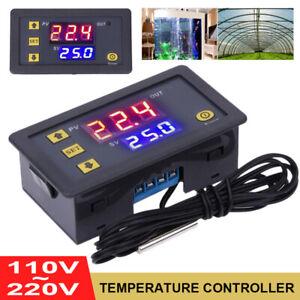 W3230 110-220V Thermostat Temperaturregelung Schalter Regler Thermometer LED DE