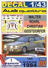 DECAL 1/43 AUDI QUATTRO A2 WALTER ROHRL R.NEW ZEALAND 1984 DnF (01)