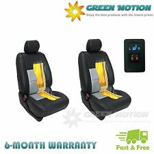 Universal Heated Pad Carbon Fiber Seat Heater 1-dial 5-level Switch Kit 2 Seats