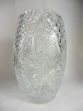 Vintage Lead Crystal Vase Cut Glass