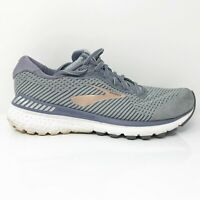 Brooks Womens Adrenaline GTS 20 1202961D073 Gray Running Shoes Lace Up Size 10 D
