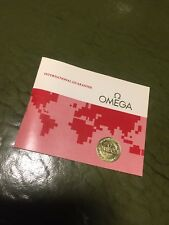 Vintage 70s / 80s Omega Watch Blank Warranty Papers Speedmaster Seamaster etc