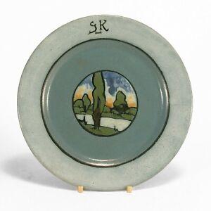 SEG Saturday Evening Girls Paul Revere Pottery 7.5 landscape plate arts & crafts