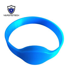 125Khz RFID Wristband EM4100 Read Only Blue Adult Size Silicone Bracelet - 10pcs