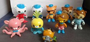 """Set of 8 x 3"""" jointed Octonaut figures + 1 2.5"""" solid plastic figure - Mattel"""