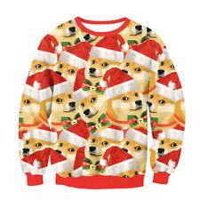 unisex - hässlich weihnachten pullover urlaub der weihnachtsmann elf sweatshirt