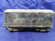 LIONEL SCOUT PREWAR GUNMETAL Coal TENDER. Black. STEEL.  VINTAGE 027 GAUGE
