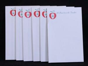 """Six (6) Write-On """"A Note From The Teacher"""" Tablets Notepads."""