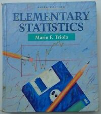 Elementary Statistics textbook by Mario F. Triola 5th Edition 1992 hardcover