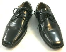 Florsheim Kids Boys Size 6 M Black Bicycle Toe Lace Up Oxfords Dress Shoes 000006C8