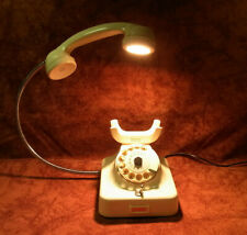UNIKAT! EINZELSTÜCK! TELEFON als TISCHLAMPE LED GESCHENK! Weiss TOP!