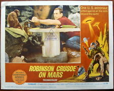 "ROBINSON CRUSOE Lobby Card #3 movie poster 11x14"" Science Fiction Film 1964"