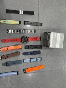 Garmin Fenix 5 Sapphire GPS 47mm - Black- Full Kit Many Free Bands Ship From NY