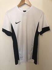 nike dri fit small Shirt Top White Black Used Nike Training Top Small