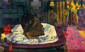 Paul Gauguin, The Royal End 1892, Tahiti Art Museum Poster, Canvas Print