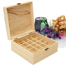 25 Slots Aromatherapy Essential Oil Wooden Storage Box Container Holder