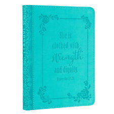 Journal, Strength and Dignity Turquoise Journal, Christian Art Gifts