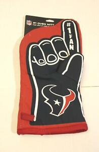 Houston Texans NFL Number One Fan Oven Mitt AB3 Red/Blue One Size NWT