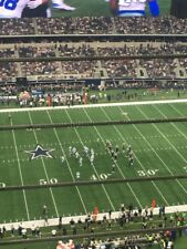 3 New Orleans Saints vs Dallas Cowboys Tickets 50 YL 1st Row Upper Deck 11/29