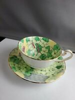 Victoria England Bone China Wallflower Teacup And Saucer