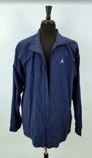 Men's Nike + Jordan Vintage Blue 100% Nylon Athletic LS Jacket  Size is XXL