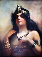 OVE CARL V. SVENSON PAINTING EGYPTIAN PRINCESS