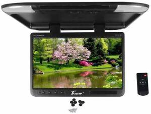 "Tview T257IR-BK 25"" Black Flip Down Wide Screen TFT Car Monitor + Built In IR"