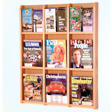 Wooden Mallet Divulge 9 Magazine/18 Brochure Wall Display w/Brochure Inserts New