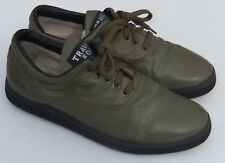 Fox Travel Olive Leather Fashion Sneakers Comfort Shoes Womens Sz 11 (Fast Ship)