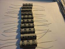 10PCS 470UF-25V AXIAL LEAD ELECTROLYTIC CAP.