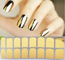 2 sheets GOLDEN COLOUR Nail Sticker Metallic Glitter Nail Art Decal  Nails