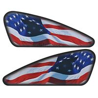 US Flag Fuel Gas Tank Sticker Decal Set For Harley Sportster Softail Dyna Bobber