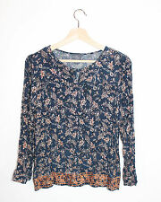 Stitch Fix Market & Spruce Blue Floral Paisley Embroidered Boho Tunic Top S