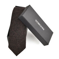 Men's Wool Ties Herringbone Tweed Classic Business Wedding Formal Wool Ties B2