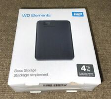 WD 4TB Elements Portable USB 3.0 External Hard Drive ✅❤️️✅❤️️ NEW Sealed inside